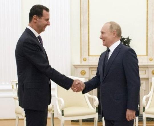 بوتين والأسد خلال القمة المشتركة