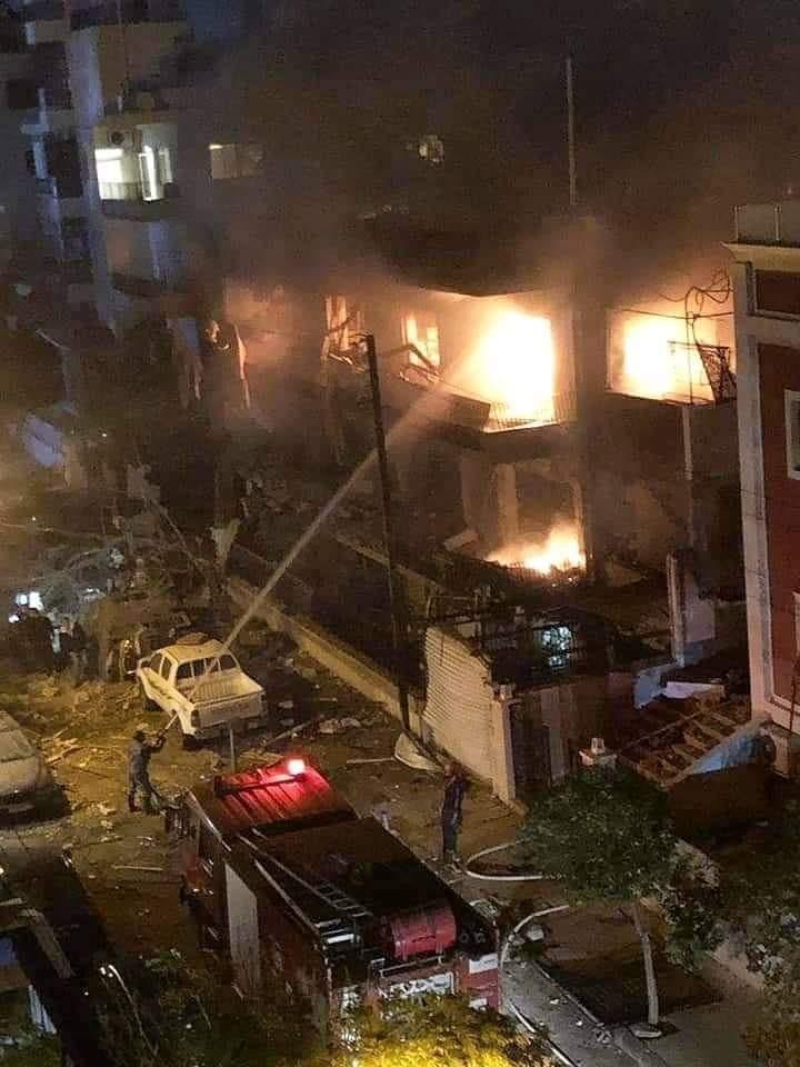نتيجة بحث الصور عن قصف منزل قيادي في الجهاد الاسلامي في دمشق