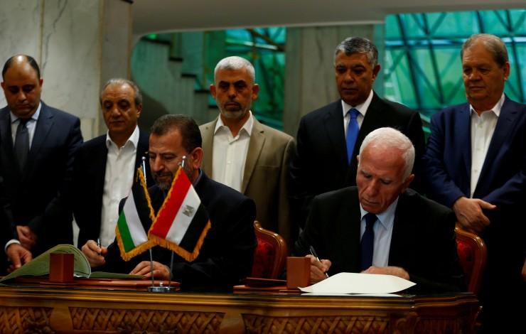 توقيع اتفاق المصالحة في القاهرة