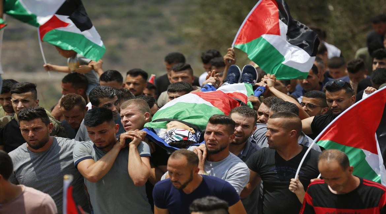 تشييع جثمان الشهيد الطفل محمد منير التميمي في قرية دير نظام برام الله (1).jpg