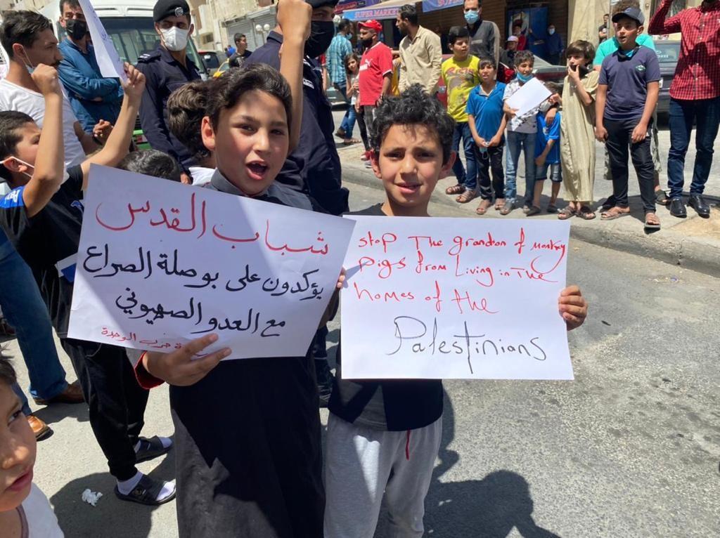 وقفة نظمتها شبيبة حزب الوحدة الشعبيّة في عمان إسنادًا للشعب الفلسطيني في القدس  (9).jpg