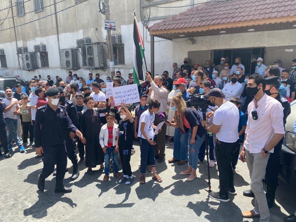 وقفة نظمتها شبيبة حزب الوحدة الشعبيّة في عمان إسنادًا للشعب الفلسطيني في القدس  (6).jpg