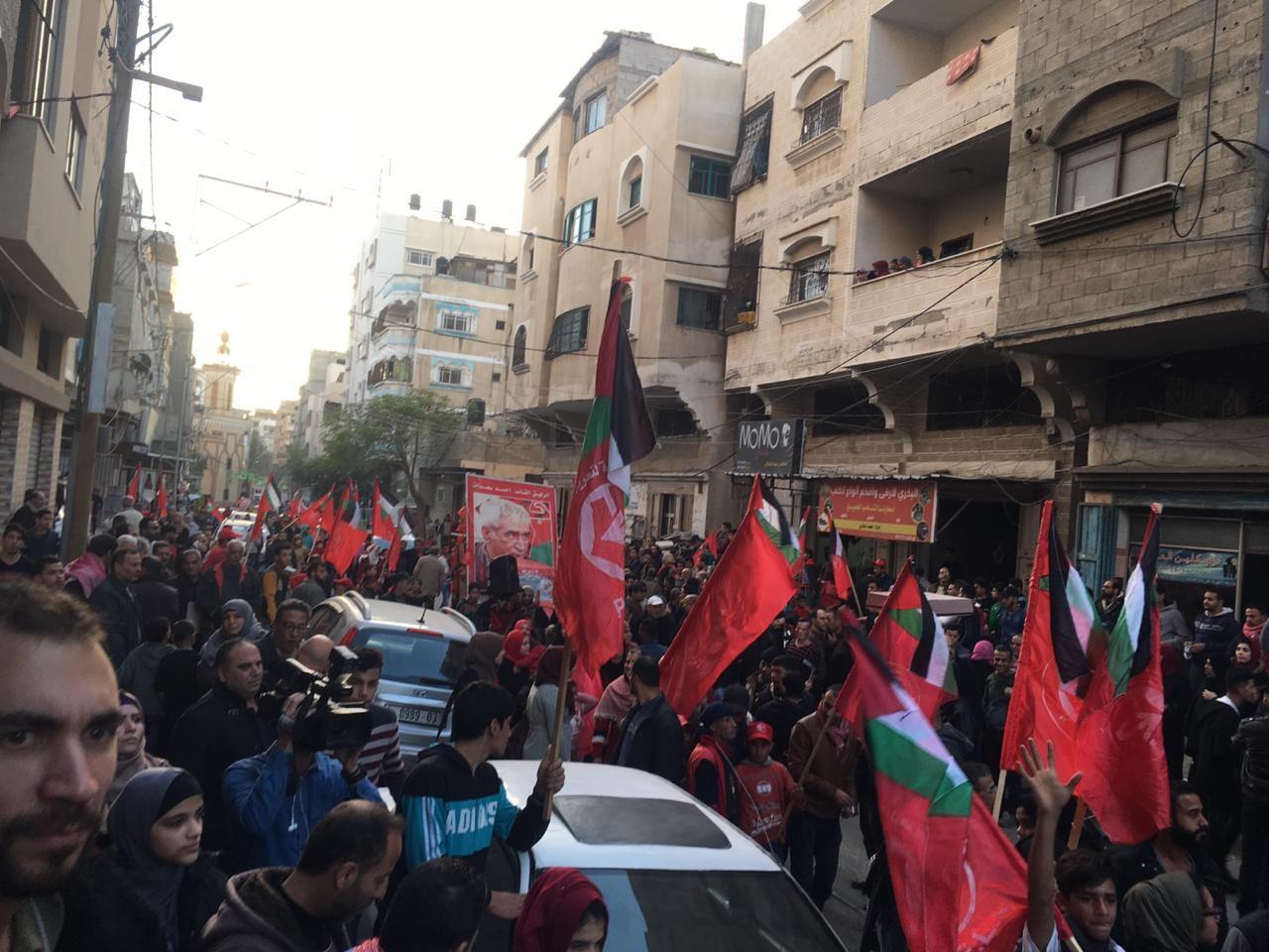 احياء ذكرى اطلاقة الجبهة الشعبية في مدينة غزة  (5).jpg