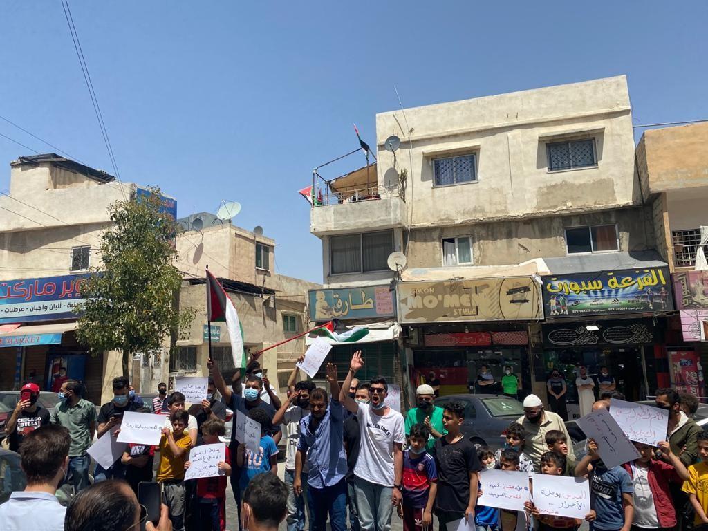 وقفة نظمتها شبيبة حزب الوحدة الشعبيّة في عمان إسنادًا للشعب الفلسطيني في القدس  (7).jpg