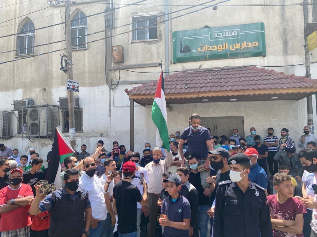 وقفة نظمتها شبيبة حزب الوحدة الشعبيّة في عمان إسنادًا للشعب الفلسطيني في القدس  (5).jpg