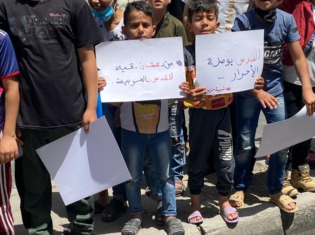 وقفة نظمتها شبيبة حزب الوحدة الشعبيّة في عمان إسنادًا للشعب الفلسطيني في القدس  (1).jpg
